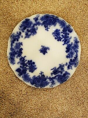 """Antique Blue Lancaster New Wharf Pottery 9"""" Plate"""