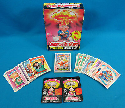 Garbage Pail Kids 5th Series Lot of 72 Card 2 Wax Packs with Box 1987 Topps