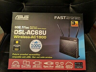 ASUS DSL-AC68U 4 Port 1300Mbps Wireless Router (DSL-AC68U)