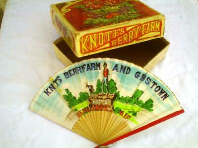 Knotts Berry Farm Box Fan Vintage Packaging Theme Park Jam California Ephemera