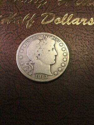 1913-D Barber Half Dollar Over 100 Barber Half Dollars Listed In My Store.