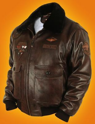 Legendary Exclusive Leather Jacket pilots of naval aviation ITALY G1