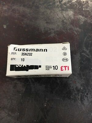 Lot Of 10, New, Bussmann, 35Nz02, 35A, 400V, Gl, Bottle Fuse. (6B-3)
