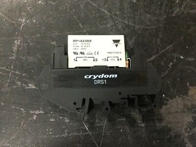 Crydom, Drs1 Base And Rp1A23D5 Relay Carlo Gavazzi, (5K-2)