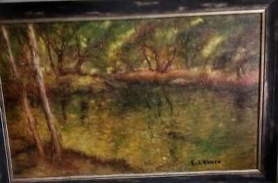 "Ernest Lawson Oil ""The Eight"" Important American Barbizon Impressionist Original"