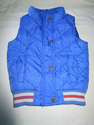 Boys size 2 Pumpkin Patch blue warm quilted vest