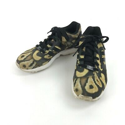 c0b3d85cb Adidas Torsion ZX Flux Leopard Sneakers Running Athletic Shoes 7.5 Animal  Print