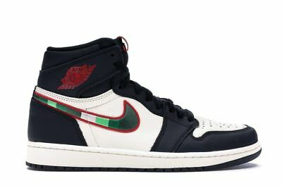 Air Jordan 1 Retro High OG Sports Illustrated Black Sail Blue Red 555088-015