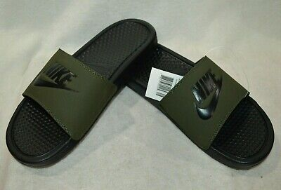 Nike Benassi JDI Olive Green/Black Men's Slides Sandals-Size 9/10/11/12/13 NWB