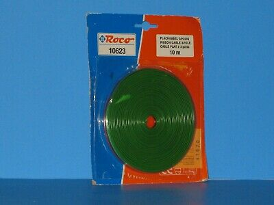 Roco 3-Pole Flat Ribbon Cable, 10 Meter (32.8 Ft.) Long, Good For Switches