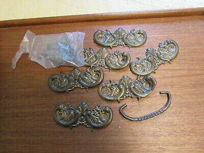 "Antique Brass 3/"" Drawer Pull # 66360 With Hardware"