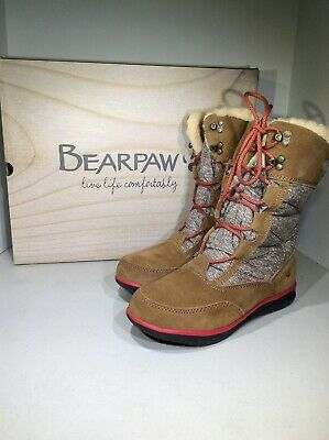 Bearpaw Aretha Women's Size 8M Hickory Brown Mid-Calf Snow Boots X18-841
