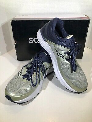 SAUCONY GUIDE ISO Mens Size 12 Wide Grey Navy Athletic Running Shoes X18 1350