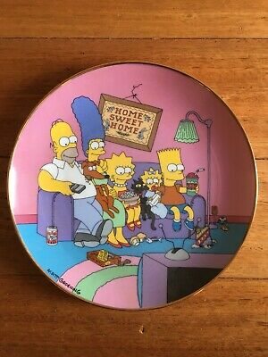 The Simpsons Collector Plate Limited Edition Collectable - A Family For The 90's