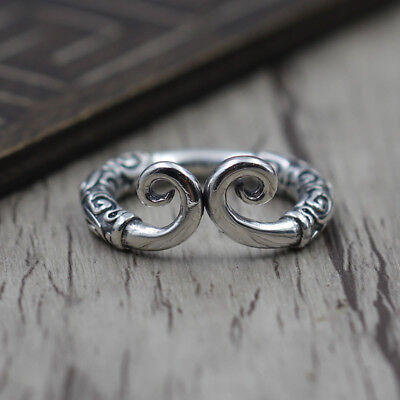 S925 men and women Silver Ring Norse Viking Warriors Sun inhibition ring
