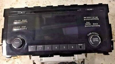2013 2014 2015 Nissan Altima Stereo XM SAT Radio CD AUX 3.5m Tested Working