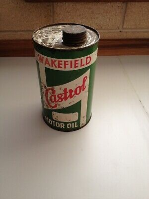 Vintage  Wakefield Castrol Motor Oil Tin Imperial Quart Can
