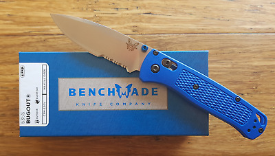 Benchmade 535S Serrated Bugout With Blue Grivory  ~ New ~ Omg Deal