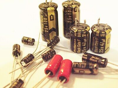 Collection Of Rare Black Gate Capacitors