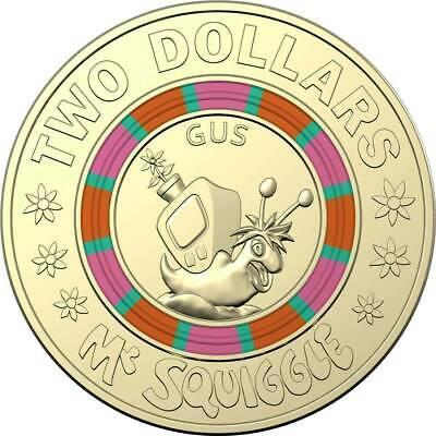 2019 $2  Coin  MR SQUIGGLE AND FRIENDS - GUS THE SNAIL , 50th anniversary set