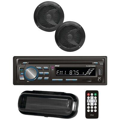 New Pyle Marine Single-din In-dash Cd Am And Fm Receiver With Two 6.5""