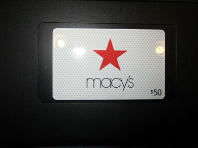 Macy's 50.00 Gift Card New Fully Authorized