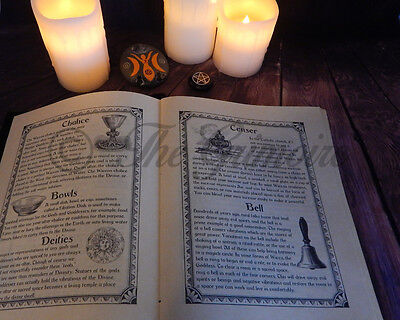 280 page Book of Shadows, Wicca, Witchcraft, Real Book of Shadows Spells