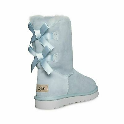 138d2d2c9fa UGG BAILEY BOW Ii Ether Suede Sheepskin Short Women's Ankle Boots Size Us 6  New
