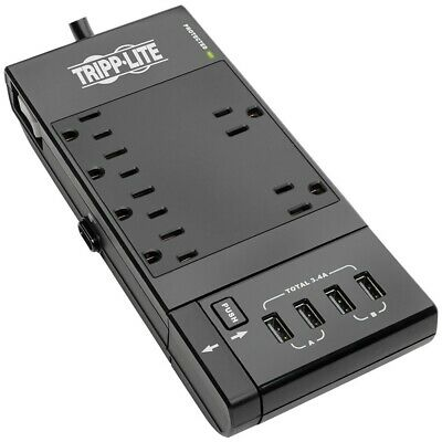 New Tripp Lite Protect It! 6-outlet Surge Protector With 4 Usb Ports, 6ft Co