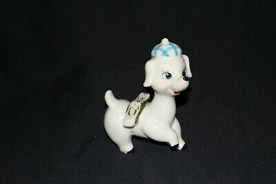 vintage French POODLE china ornament wearing beret dog statue