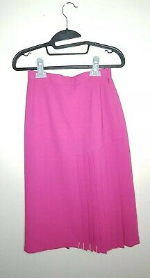 e08406385 JACQUES VERT | Size 10 | Pink Asymmetric Pleated Wool Long Skirt | Cruise  Races