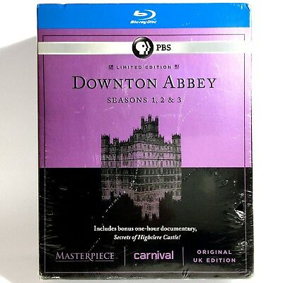 Masterpiece: Downton Abbey - Seasons 1-3 (9-Disc Blu-ray Set, 2010) Brand New !