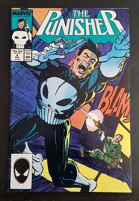The Punisher #4 (1987 Marvel) *1St App Of Microchip* (Netflix) Nm-/nm