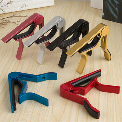 Aluminium Alloy Guitar Capo Quick Change Clamp Key Acoustic For Tone Adjusting