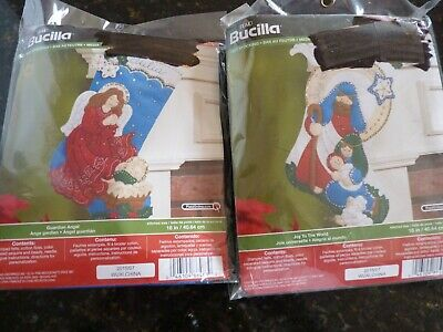 "Bucilla - Felt Stocking Kit "" Joy To The World"" Or "" Guardian Angel"""