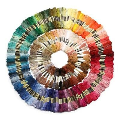 250 skeins of yarn for cross needle embroidery knitting multicolored croch L3C8)
