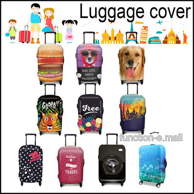 3D Animal Girls Boys Travel Luggage Skull Elastic Dust Cover Suitcase Protector