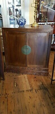Antique Chinese Cabinet Sideboard Cupboard Storage Carved
