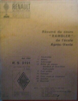 * Rambler Classic 6 Mai  1963 Manual Manuel french / francais by Renault