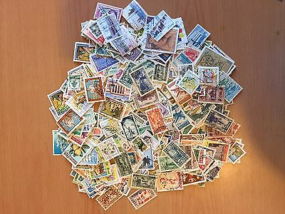 Liban SELECTION of 500 DIFFERENT POSTALLY USED STAMP AS SCANS SHOWN LOT( LEB C)