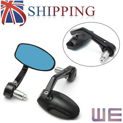 2X CNC Motorcycle Bar End Black Rearview Side Mirrors for Triumph Speed Black UK