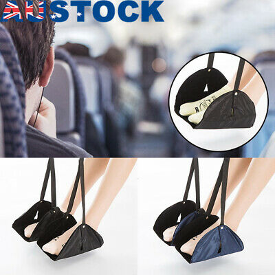 Black Travel Foot Rest Footrest Leg Pillow Flight Memory Foam Cushion Hammock