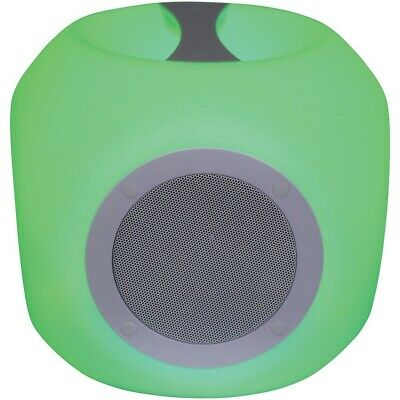 New Sylvania Water-resistant Color-changing Bluetooth Outdoor Speaker CURSP688