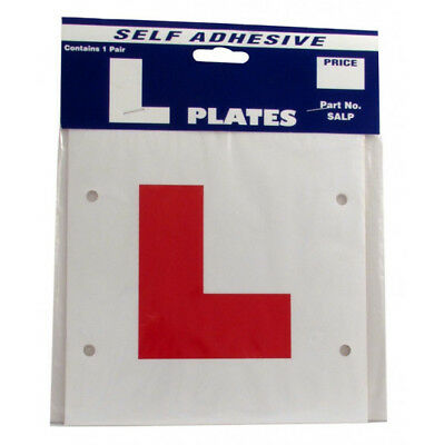 L Plates - Self Adhesive - Pair - Learner Driver