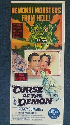 Curse of the Demon Daybill Poster Original 1957 Peggy Cummins