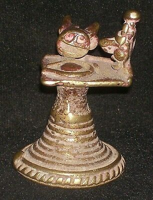 Antique Traditional Indian Ritual Rare Bronze Family  God Shiva Collectible