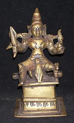 Antique Traditional Indian Ritual Bronze Statue Goddess Parvati Rare #1