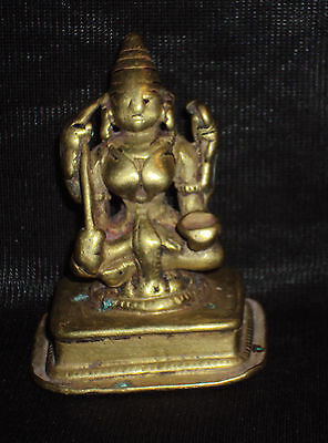 "Traditional Indian Ritual Bronze Goddess ""Durga"" Shakti Rare #1"