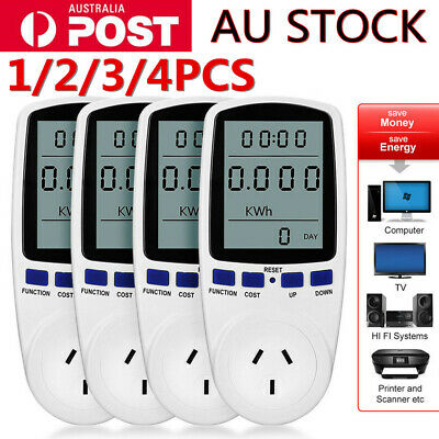AU Plug Watt Power Meter Monitor Equipment Consumption Usage Energy Electricity