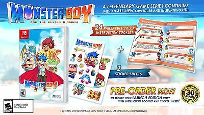 Monster Boy & The Cursed Kingdom : Launch Edition - Nintendo Switch - New